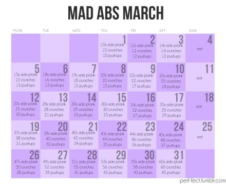 oh yes!!  Can't wait to start this! blah-fitness: Abs Challenges, Six Packs Abs, Abs Workout, Fitness, Workout Calendar, Work Outs, Mad Abs, Abs Marching, Weights Loss