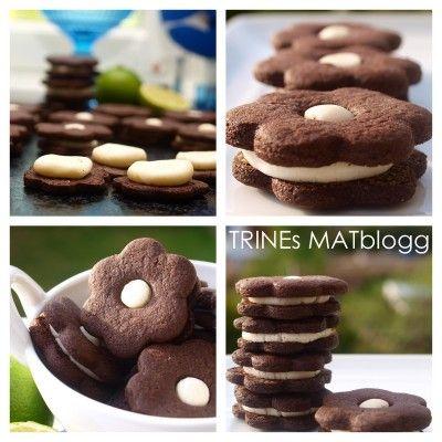 Sjokoladekjeks med limekrem | TRINEs MATblogg