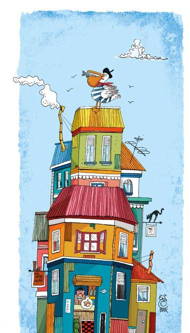 Ilustración para cuentos de animales chilenos