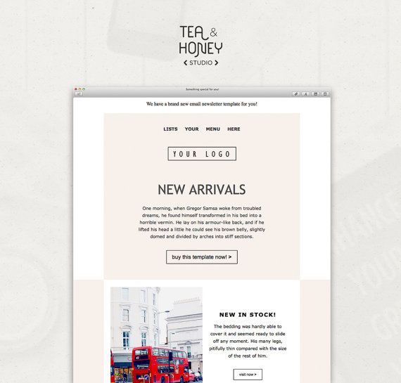 Mailchimp responsive template, Email Newsletter, Unique Email Design, HTML template, Online Newsletter, Clean Design, Modern Template