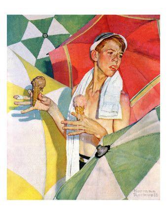 Melting Ice Cream or Joys of Summer, July 13,1940 Lámina giclée por Norman Rockwell en AllPosters.es