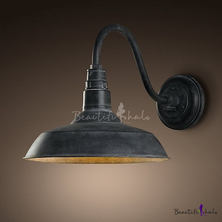 Old Black Gooseneck Barn Wall Sconce