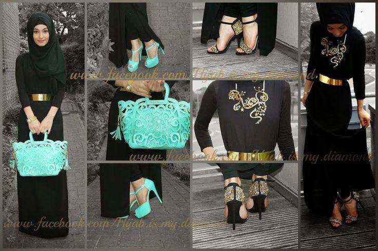 Hijab Vintage: Fashionable Golden Belts