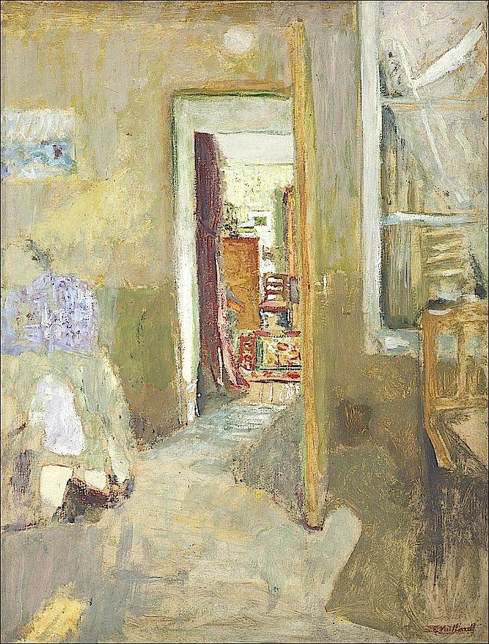 "bofransson: "" Edouard Vuillard (1868-1940) La porte ouverte """