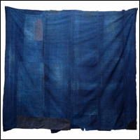 Early Boro Indigo Thin Stripe Cotton Futon Cover