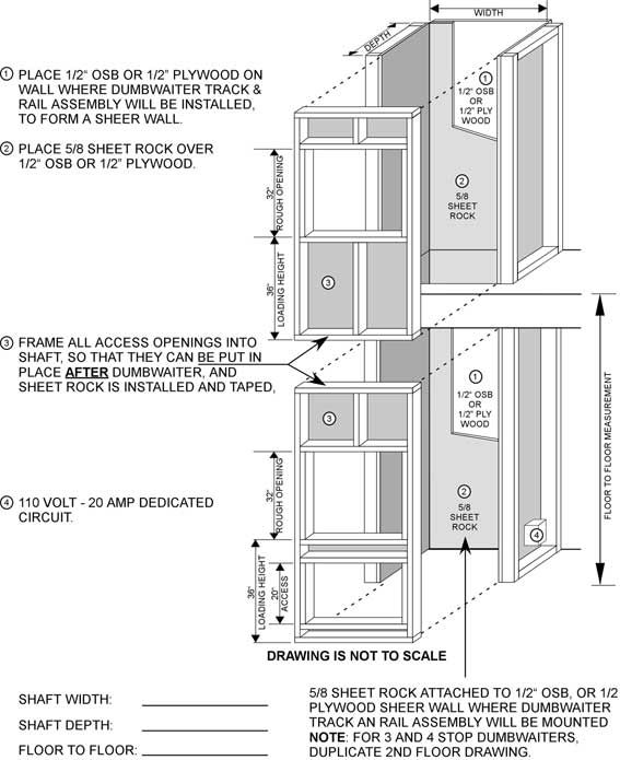 Build or remodel your own house wood burning fireplace or for Dumbwaiter plans