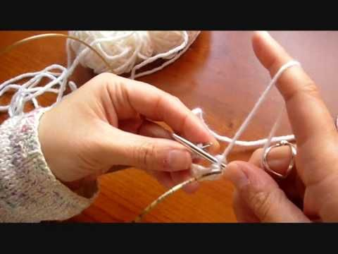 Maglia lezione 3: Ferri circolari e magic loop