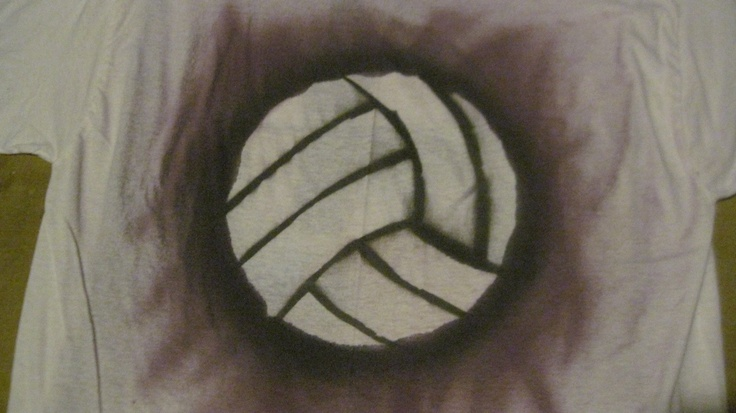 My volleyball stencil create pinterest