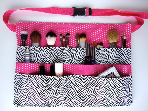 Custom makeup artist brush belt think I need to make one of these!!!