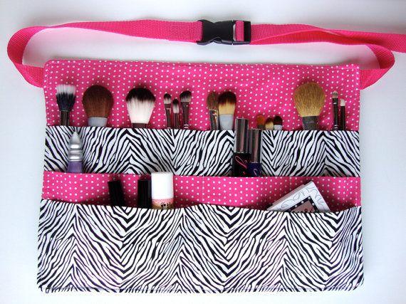 Custom makeup artist brush belt think I need to make one of these!!!