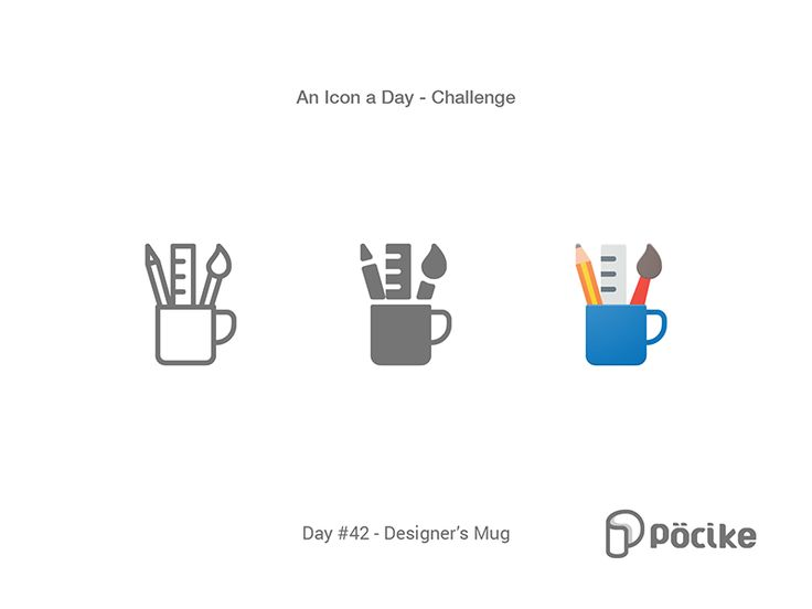 Icon Challenge Day 42 Designer's Mug by Pöcike - Dribbble