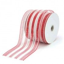 Deco Deluxe Stripe Mesh - Whether you use plain fabric ribbon, decorative fabric ribbon, poly ribbon or pullbows, ribbon adds a great finishing touch to every gift. Your flowers, chocolates, bottle of wine or specially wrapped present will go down a treat with a beautiful bow to embellish it. We also do branded or logo printed ribbon in large runs, email us with your requirements and we'll see what we can do. Gift wrapping, Birthday, Christmas, Baby shower, Decorations,Wedding.