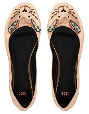 ASOS LITTLE MISS Metallic Ballet Flats: similar to Marc Jacobs without the high price tag!