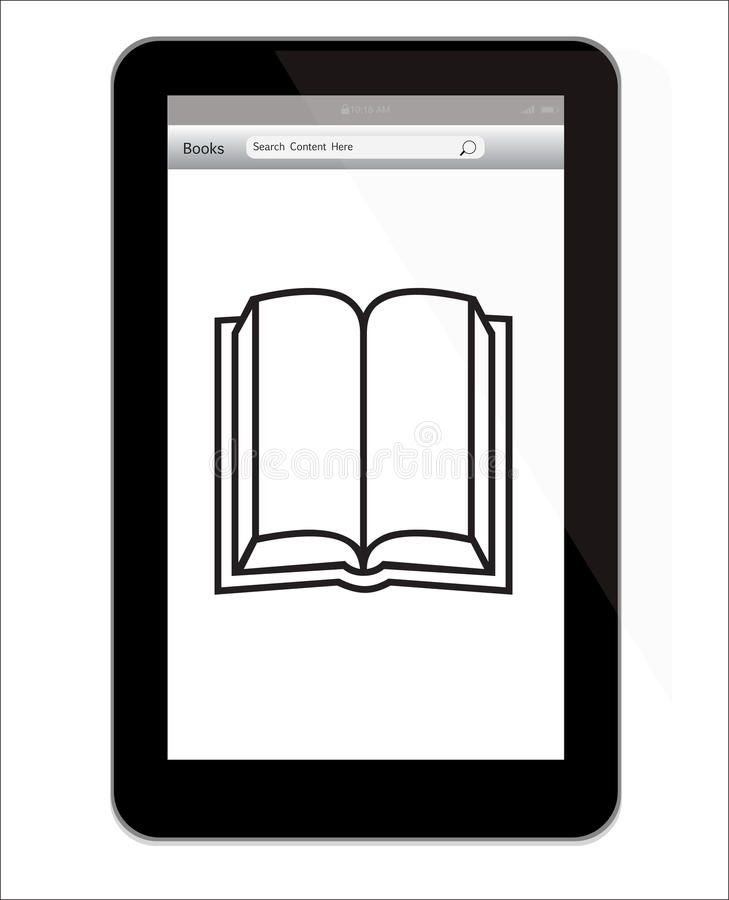 Amazon Kindle Fire Tablet With Book Illustration Illustration Of