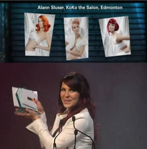 Throwing it back to the 2013 Contessas! - - - - The 2013 Canadian Colourist of the year award goes to Alann Sluser, from KoKo The Salon! Congrats! We are thrilled to have Canada's top colorist using KOKO colour solution!