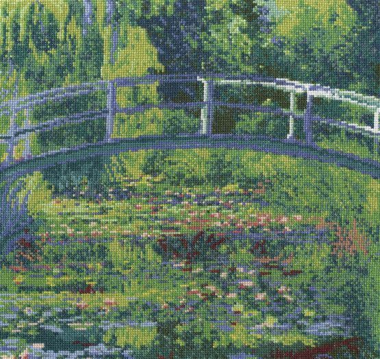 Monet - The Water-Lily Pond Cross Stitch Kit £29.00 | Past Impressions | DMC