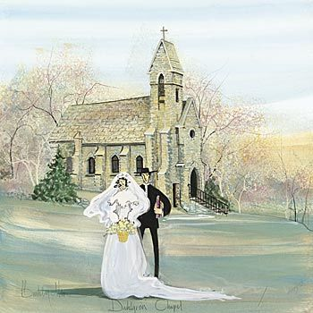A Painting Of Our Wedding Chapel MUST GET SOMEDAY