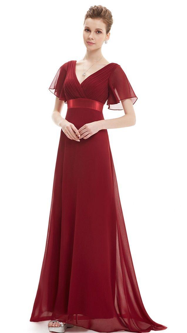 efbcde3e3e88 Ever-Pretty Womens V-Neck Empire Waist Evening Prom Ball Gown Bridesmaid  Gala Dresses for Women 09890 Coral US 10#Evening, #Waist, #Ball
