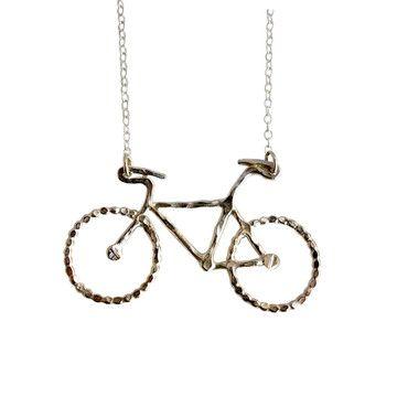 Le Petit Bike Necklace Silver