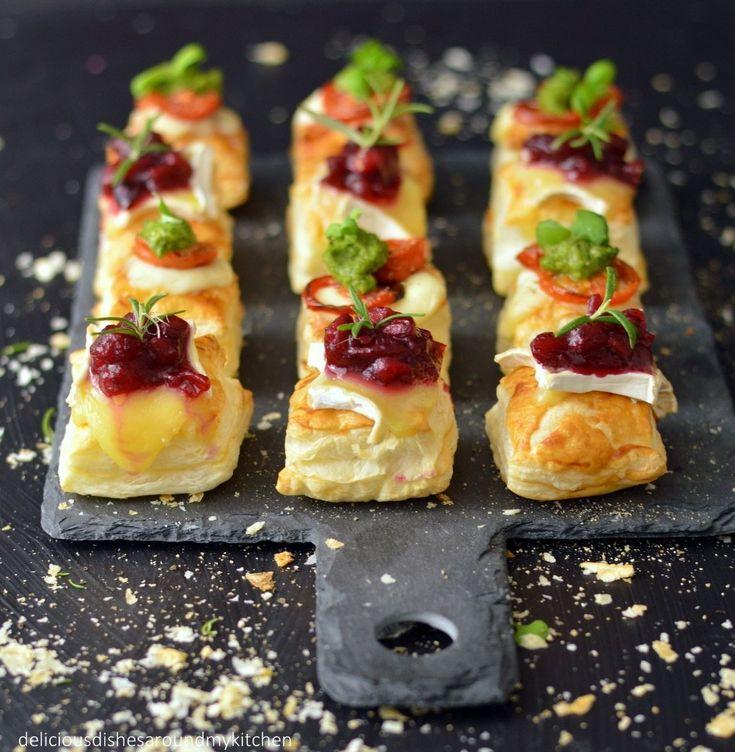 Fingerfood für Silvester- Blätterteig- Häppchen mit zweierlei Topping – Delicious dishes around my kitchen – Christa Krone