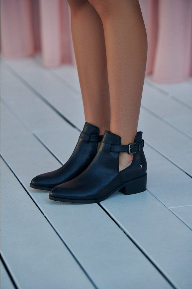d61e85e585b WINDSOR SMITH Reina Boot Black Leather | birthday wishes | Boots ...