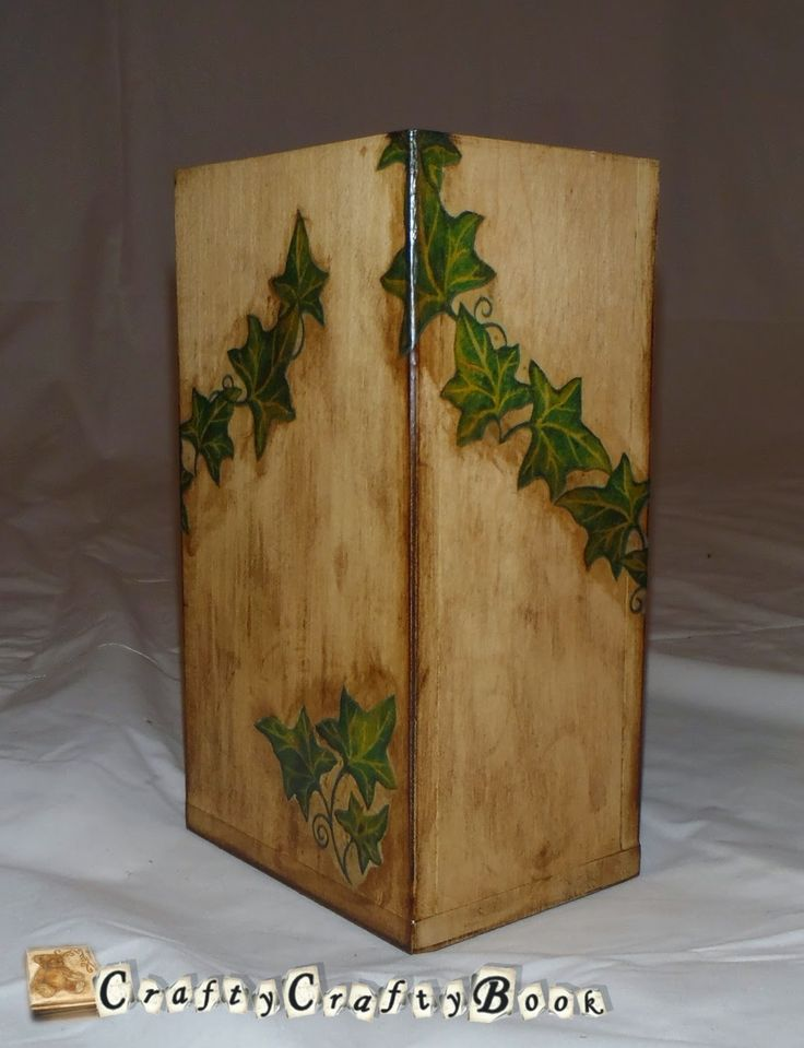 Crafty Crafty Book: Wooden box decoupage - Ivy