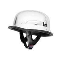 German Helmets – DOT German Motorcycle Helmet Chrome 115 | Black Motorcycle Helmets