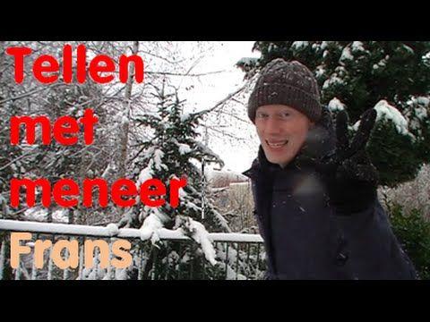 Een leuk tel spelletje voor de kleuters. Vandaag gaat meneer Frans tellen in de sneeuw.