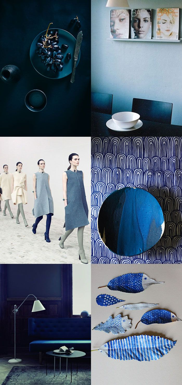 {1. Grapes 2. Nostalgi 3. Celine by Victoria Will 4. Elephant ceramics 5. via 6. Leaf Fish } We all know the color blue, but welcome blue's sexier cousin, Indigo. Indigo has this mysterious and intense quality. I love how...