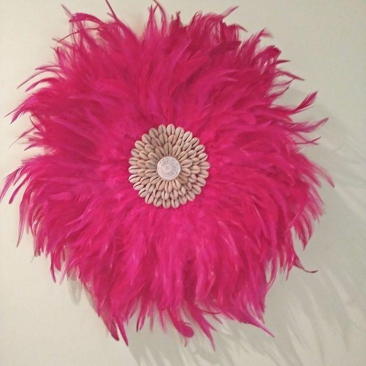 Feather Boho Tribal Juju, Pink  Feathers Medium size 42-45cm  Home Decor