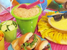 Parties and Patterns: Summertime Sand Pail Pudding Delight