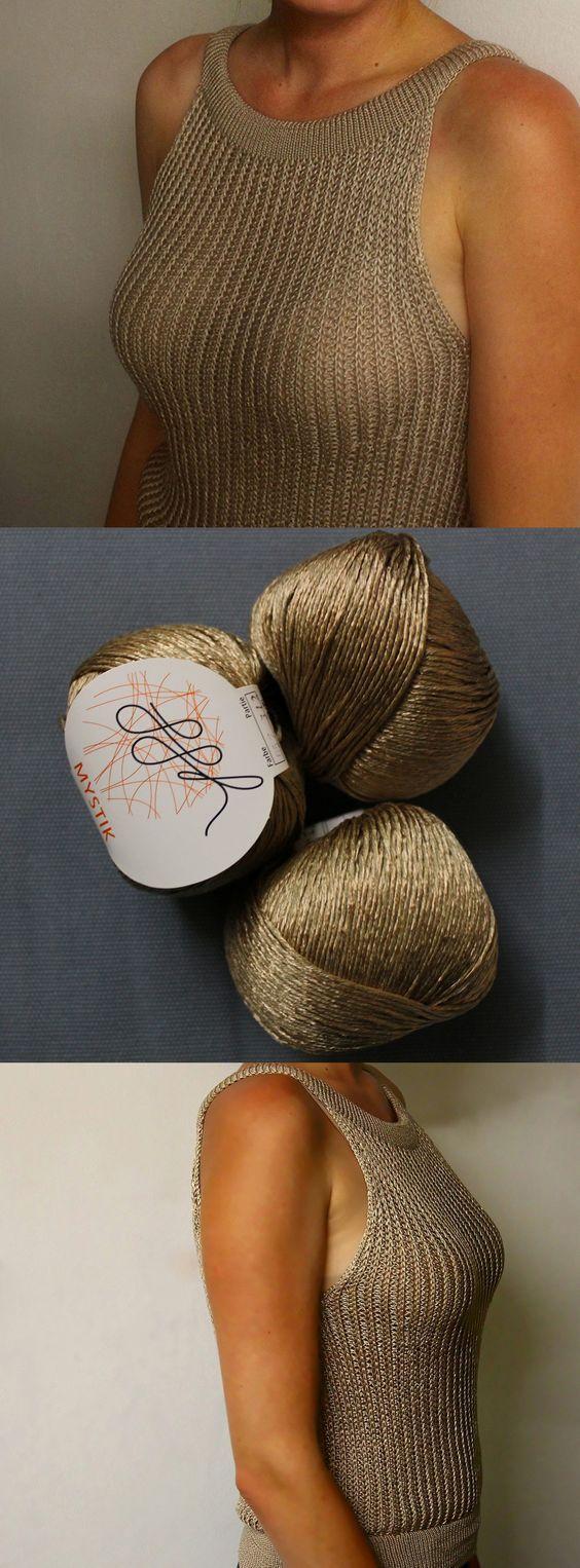 Kostenlose Strickanleitung auf Deutsch | SHINE-TOP | Sommertop // stricken // St… #knittingpatterns