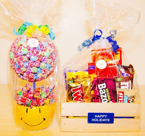 HAPPY HOLIDAYS CANDY CRATE / Gift Basket