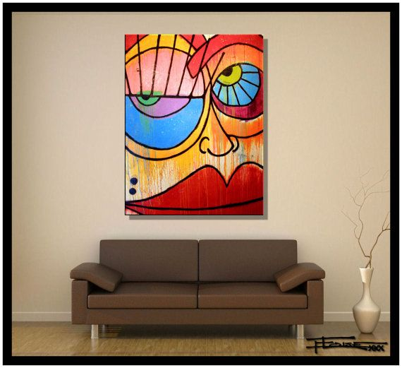 Abstract Painting Modern Canvas Wall Art Ready To Hang Etsy Modern Wall Art Canvas Abstract Painting Abstract Canvas Painting