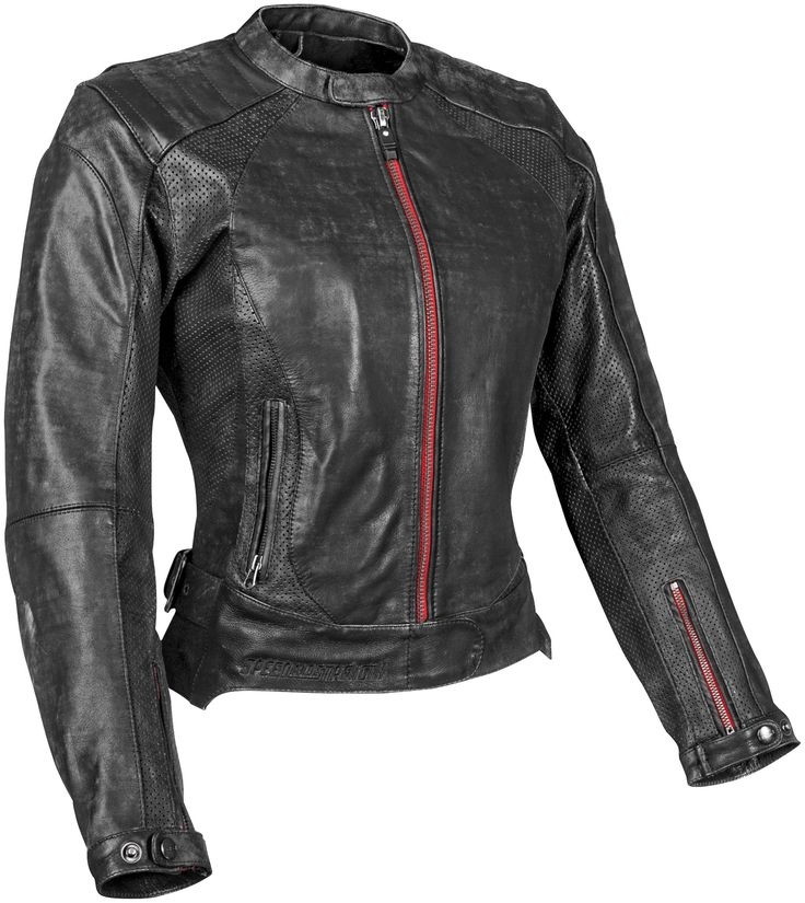 Thee Speed & Strength Black Widow Women's Leather Motorcycle jacket features premium cowhide leather, ce approved armor and great style