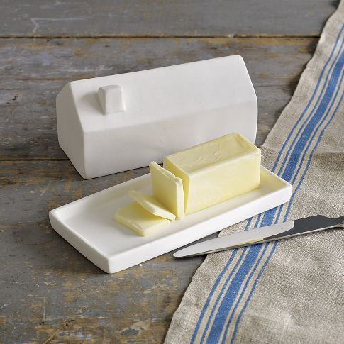 A butter dish shaped like a house from West Elm. I sure like butter dishes that are shaped like things.