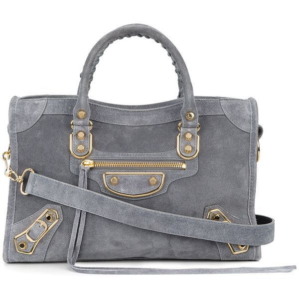 Balenciaga Classic City Small tote bag ($2,050) ❤ liked on Polyvore featuring bags, handbags, tote bags, grey, balenciaga tote, handbags totes, tote handbags, grey suede handbag and gray tote