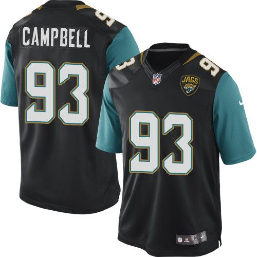 Youth Nike Jacksonville Jaguars #93 Calais Campbell Limited Black Alternate NFL Jersey