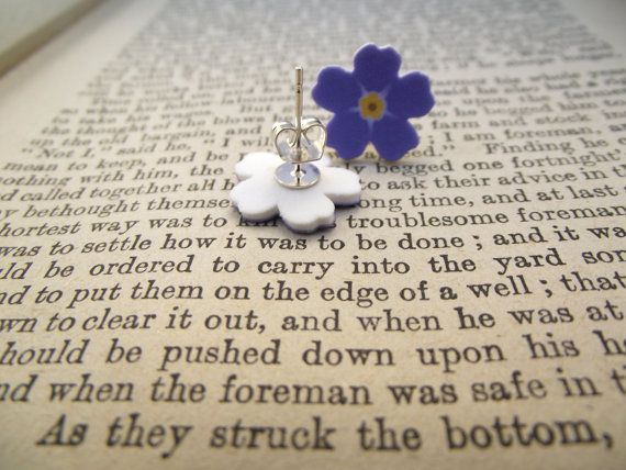 Forget-Me-Not Earrings by AGirlCalledBoz on Etsy