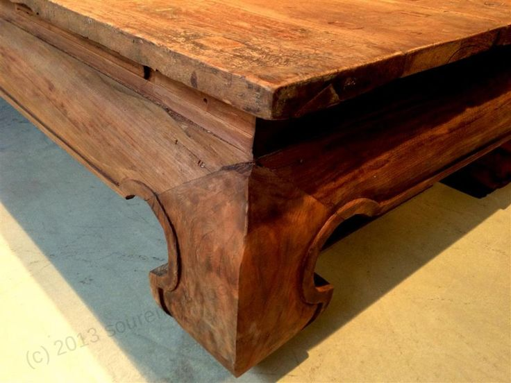"""Teak coffee table """"Opium"""". One of a kind, made from reclaimed teak"""