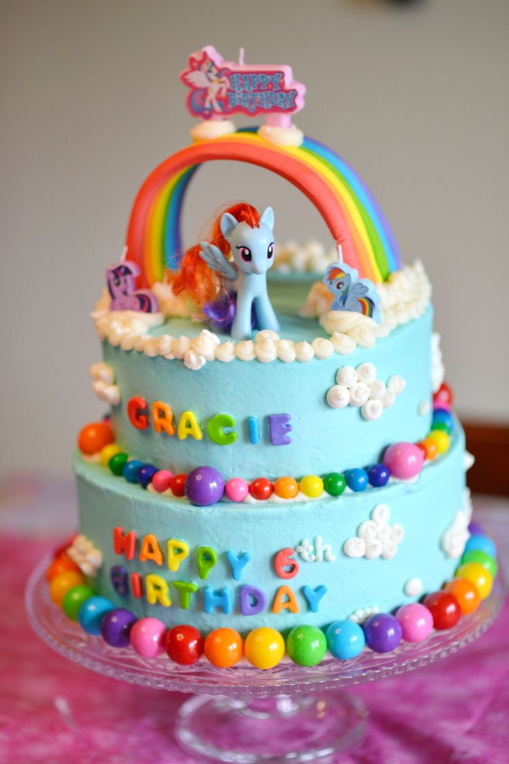 Pin cara menghias kue cake decorating cake on pinterest - My Little Pony Rainbow Dash Cake