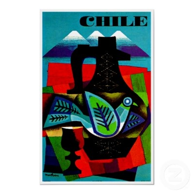 Chile ~ Vintage South America Travel Ad Poster from Zazzle.com