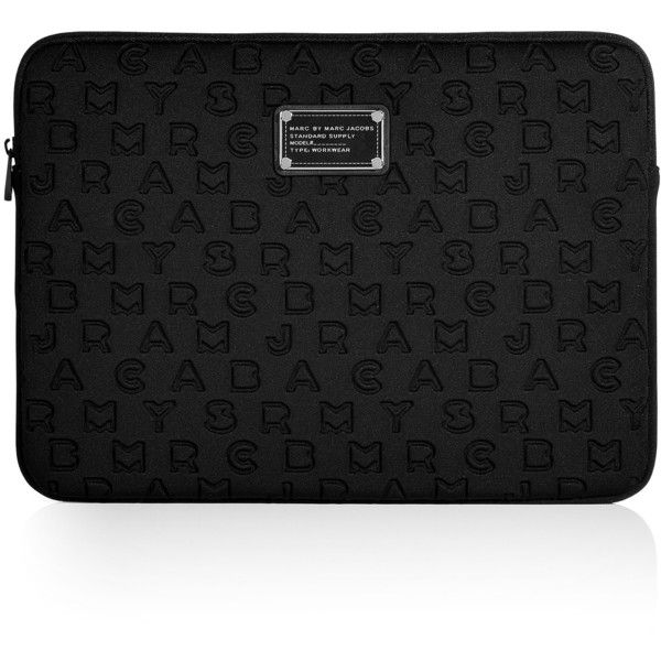 marc by marc jacobs black dreamy logo 13 computer case 625 sek liked on polyvore featuring. Black Bedroom Furniture Sets. Home Design Ideas