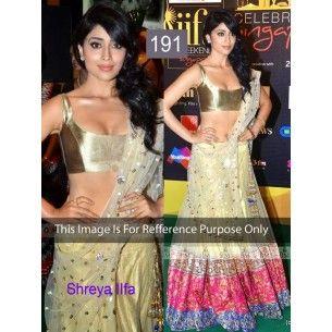 #Designer #Shreya Saran Bollywood Replica lehnga  Shop Now : http://www.valehri.com/shreya-saran-iifa-replica-lehenga-1794http://www.valehri.com/shreya-saran-iifa-replica-lehenga-1794