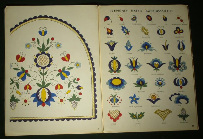 Image detail for -POLISH Hand-Embroidery Pattern Kaszuby folk art ethnic textile design ...