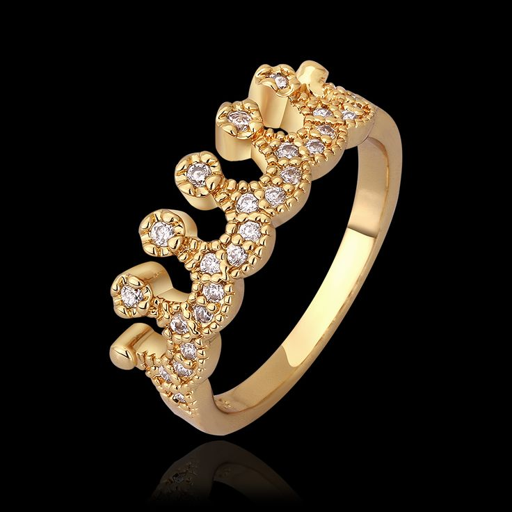 Пр леди вентилятор восемь в форме сердца, Восемь стрелки циркон кольцо 18 К розового золота мода высокое - класс декоративные украшения античная аксессуары