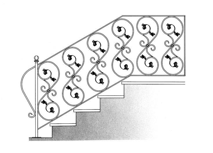 garde corps escalier balcon en fer forg style. Black Bedroom Furniture Sets. Home Design Ideas
