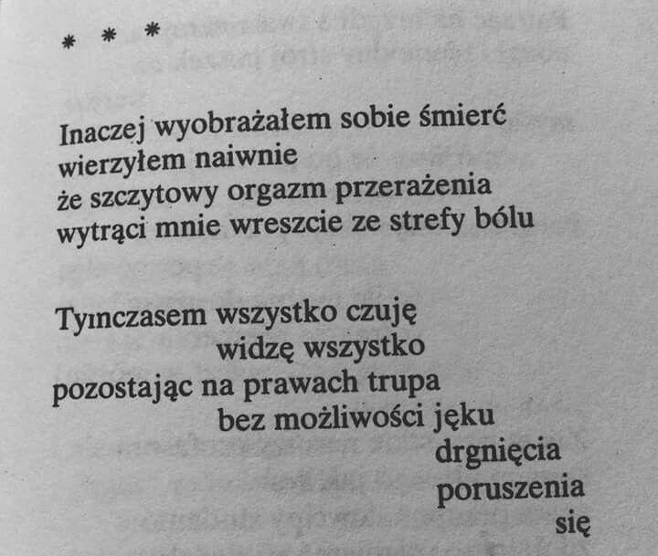 Andrzej Bursa, Inaczej wyobrażałem sobie śmierć... (1957; fragment)
