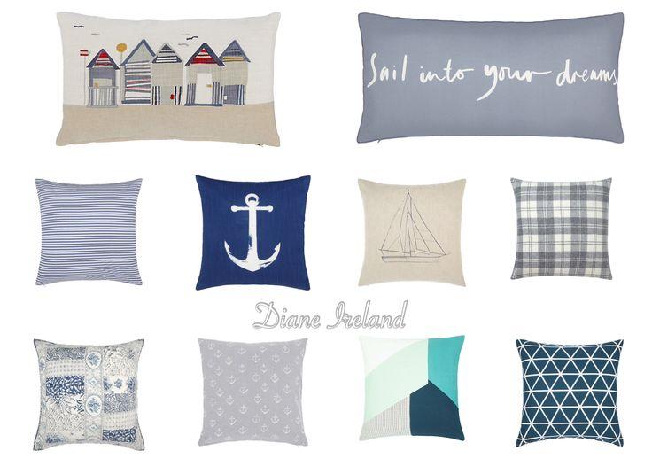 Coastal inspired cushions at John Lewis