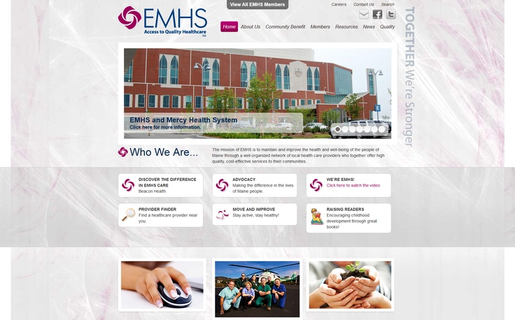 Best Migration  Eastern Maine Healthcare Systems	 - http://www.EMHS.org  Implemented by Lighthouse Web Solutions  EMHS is a well-organized network of local healthcare providers for the people of Maine that migrated platform from Ektron to Kentico. This mobile- friendly site gained an updated look and feel and easier-to-manage content. http://www.kentico.com/Customers/Site-of-the-Year/Site-of-the-Year-2012